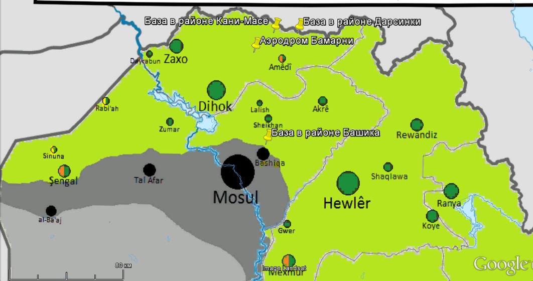 Turkish Bases In Northern Iraq Conflict Intelligence Team - Map of iraq us military bases