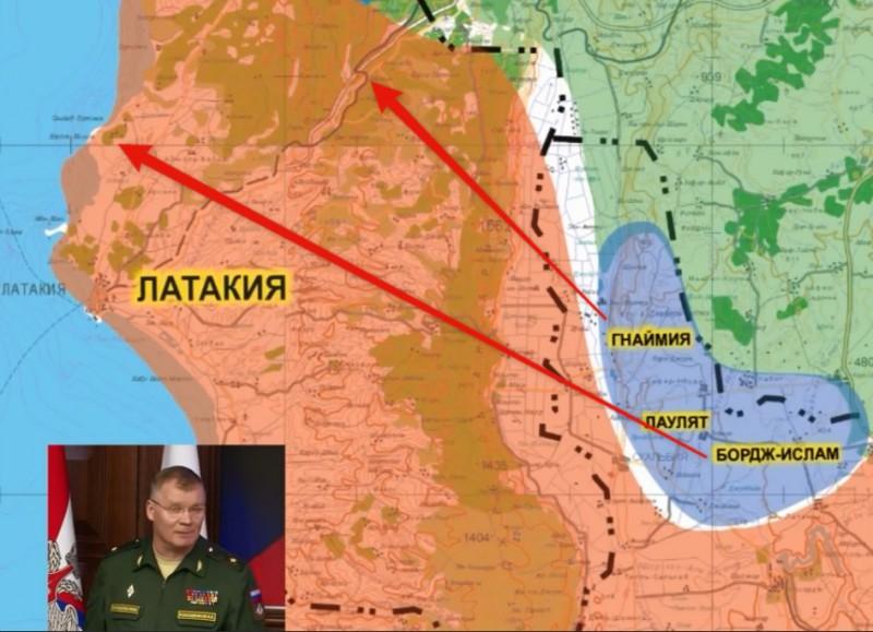 Фактическое местоположение населенных пунктов Бордж-Ислам и Гнаймия отмечено красными стрелками