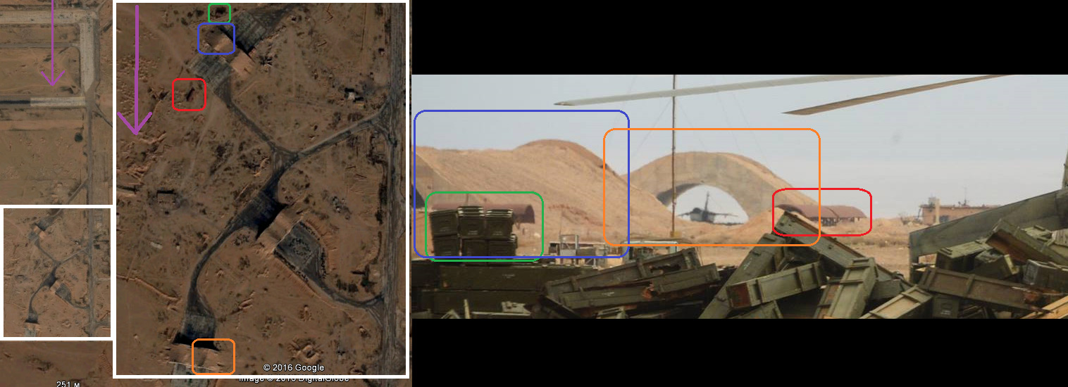 Направление съемки указано фиолетовой стрелкой (ссылка на Google Maps)