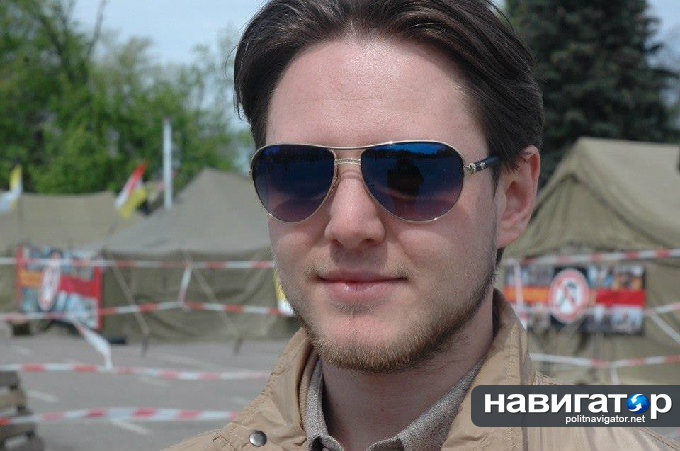 Денис Яцюк в лагере «Антимайдана» на Куликовом Поле (источник)