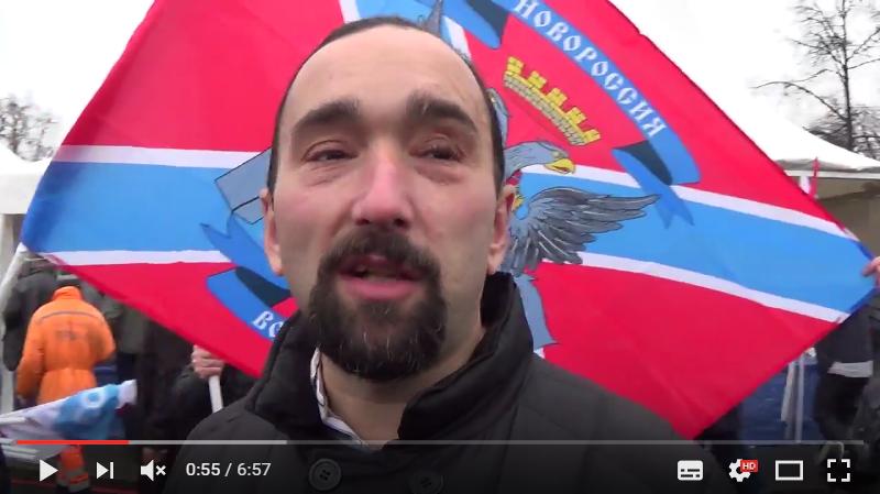 Кирилл Фролов на митинге в Москве 4 ноября 2015 года