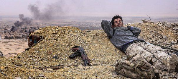 A Syrian army soldier atop Fahr-al-Din castle, photo by Valery Sharifullin/TASS